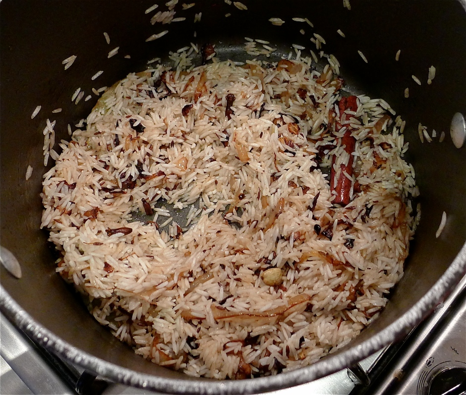 Browning your rice