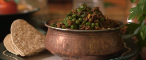 Mince and peas